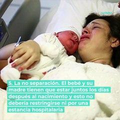 Tu bebé tiene derechos en el nacimiento, ¡conócelos!