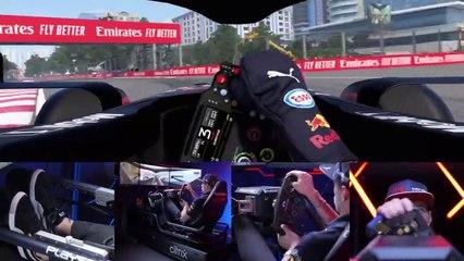 Una vuelta al Circuito de Bakú con Max Verstappen