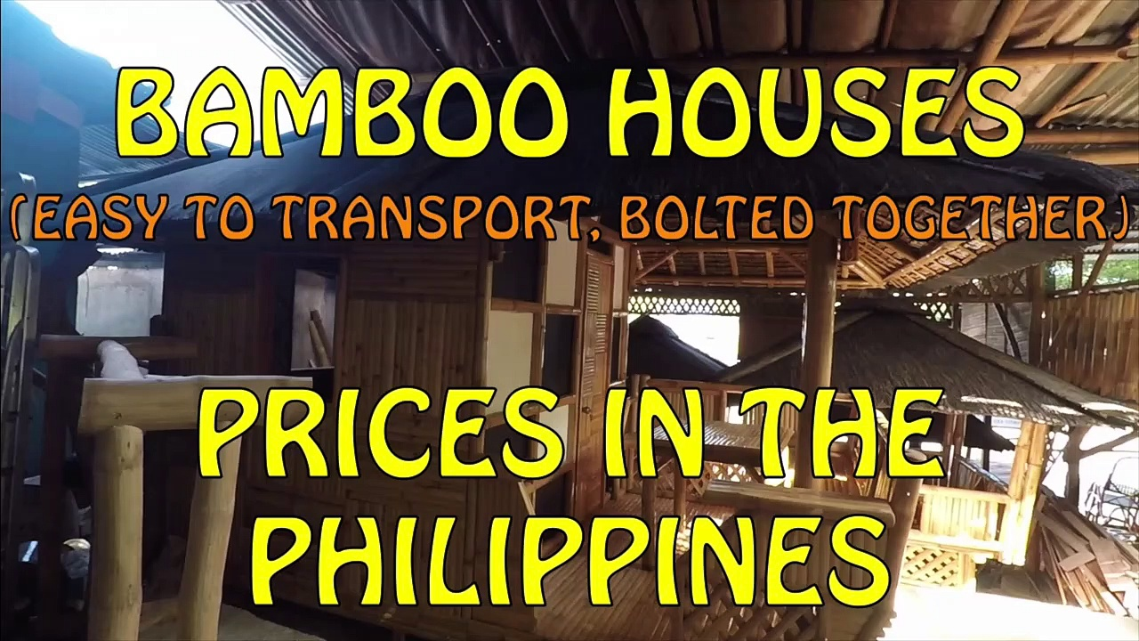 Bamboo Houses, Prices In The Philippines. (Nov 2019)