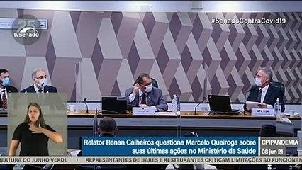 CPI DA COVID (8/6): Ministro da Sáude, Marcelo Queiroga, fala sobre orientação a Bolsonaro