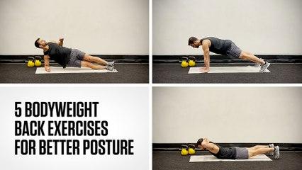 5 Bodyweight Back Exercises for Better Posture