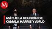 Finaliza reunión entre Kamala Harris y Andrés Manuel López Obrador