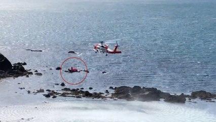 Celebraba su cumpleaños en un flamenco hinchable y tuvo que ser rescatada en helicóptero