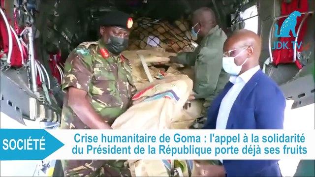 RDC : réception des premiers dons de l'aide humanitaire à Goma