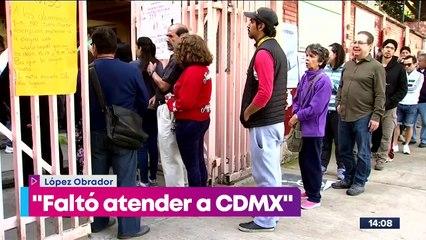 """""""Faltó más trabajo"""", López Obrador tras la derrota de Morena en la CDMX"""