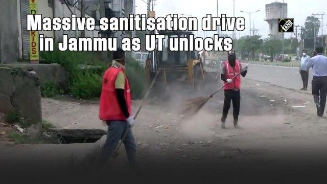 Massive sanitisation drive in Jammu as UT unlocks