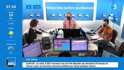 10/06/2021 - La matinale de France Bleu Belfort Montbéliard