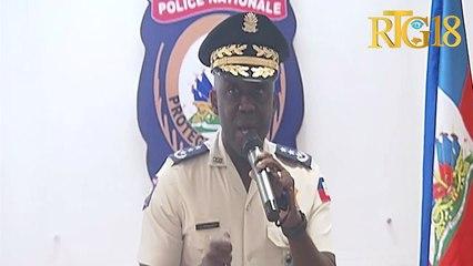 Léon Charles direktè jeneral a i PNH la mande sipò popilasyon an pou fasilite polisye yo konbat gang