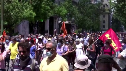 Chaos in Athens as Greeks protest new labor law