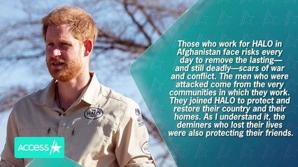 Prince Harry Calls HALO Trust Killings 'An Act Of Barbarism'