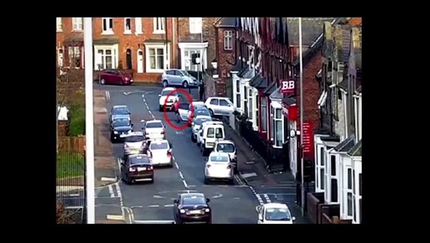 Shocking CCTV of disorder in Ridley Street, Sunderland.