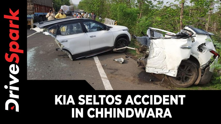 Kia Seltos Accident Crash Images  Kia Seltos Splits In Half!