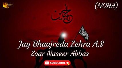 Jay Bhaajreda Zehra A.S   Noha   Zoar Naseer Abbas   Labaik Labaik