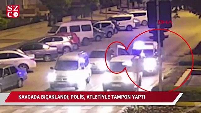 Kavgada bıçaklandı; polis, atletiyle tampon yaptı
