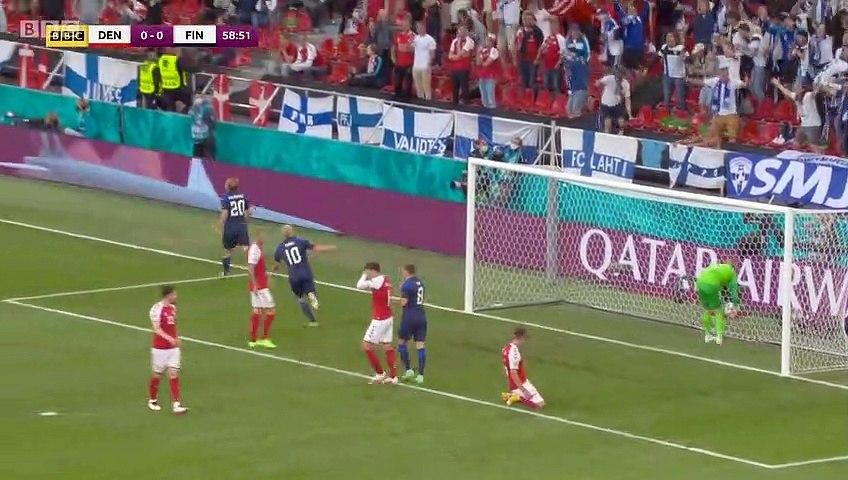 Denmark 0-1 Finland - Pohjanpalo Goal - 12.06.2021