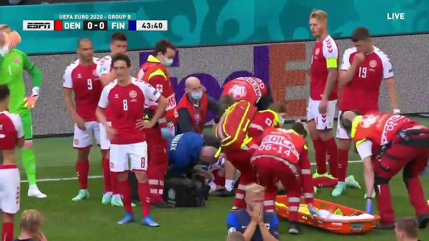 Danish Soccer Star Christian Eriksen Collapses and Receives CPR During Euro 2020 Match