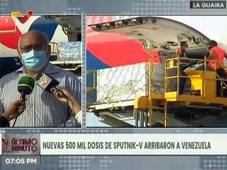 Gracias a cooperación Rusia-Venezuela arriban al país 500 mil nuevas vacunas Sputnik V