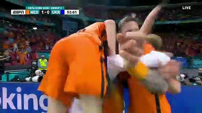 Netherlands 1-0 Ukraine - Georginio Wijnaldum Goal - 13.06.2021