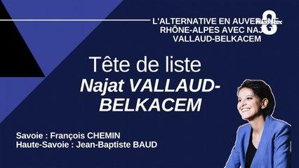 L'Alternative en Auvergne Rhône Alpes avec Najat Vallaud Belkacem