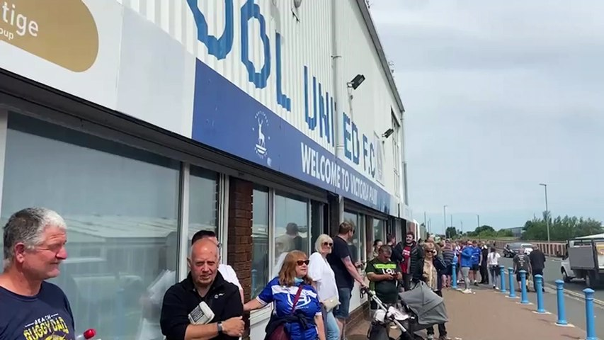 Hartlepool Utd fans buying tickets for the National League play-off final