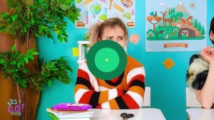 RICH POPULAR VS BROKE NERD Cool Hacks To Become Popular At School by 123 Go! GENIUS