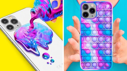 COOL DIY PHONE CRAFTS Fun DIY Custom Ways And Tricks For Your Phone By 123 GO! GOLD