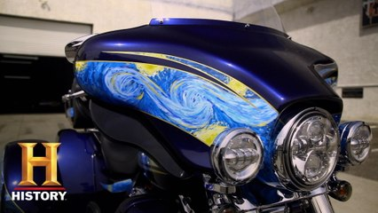 Counting Cars: FAMOUS Van Gogh MASTERPIECE on Harley Tike Bike