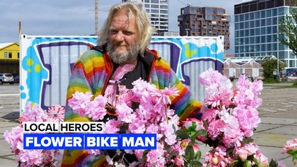 Local heroes: Bringing flowery smiles to the city of bikes