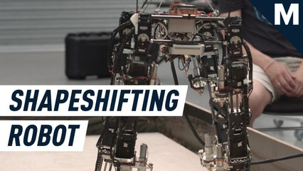 A shapeshifting robot is figuring out how to stay upright in the real world