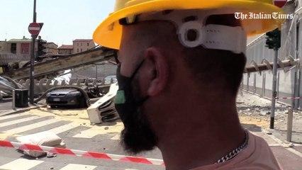 """Milano, crolla trivella su palazzo. Macchinista """"salvo per miracolo"""""""