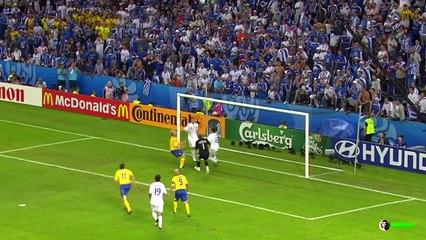 10/06/08 : Petter Hansson (72') : Grèce - Suède (0-2)