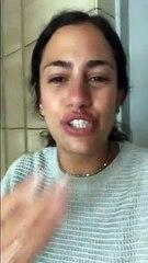 بسمة بشاي تبكي بحرقة وتروى قصة تعرضها للتحرش بمطار القاهرة