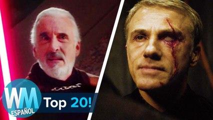 ¡Top 20 Mejores Actores que siempre son VILLANOS!