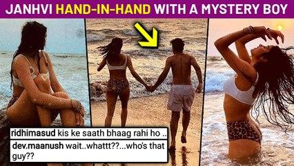 Janhvi Kapoor Shares H0T Bikini Pics With Mystery Boy, Creates Curiosity Between  Netizens