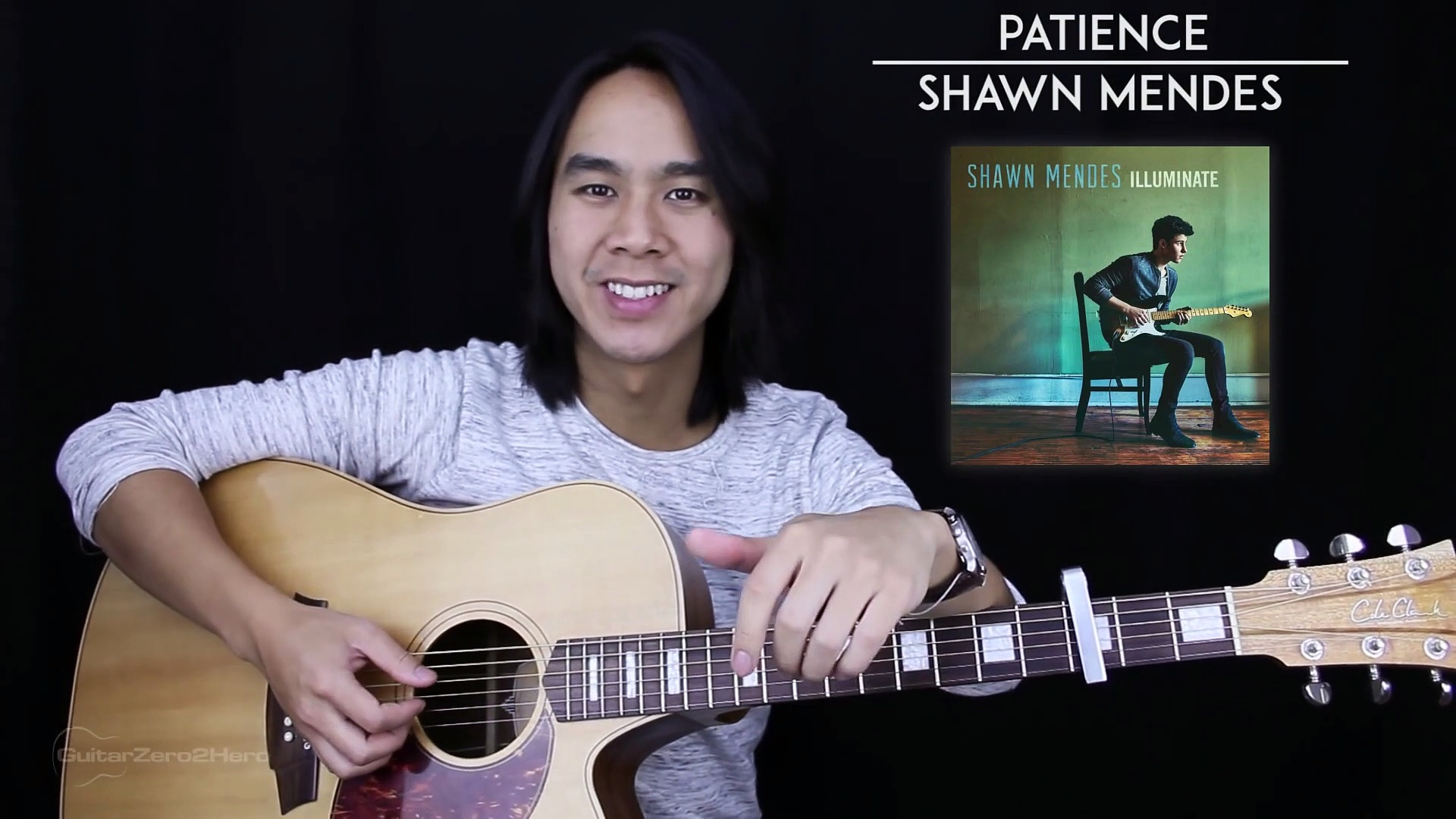 Patience Guitar Tutorial – Shawn Mendes Guitar Lesson Tabs + Chords + Guitar Cover