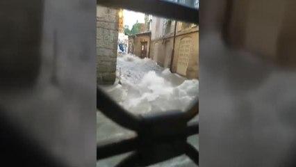 Las fuertes lluvias vuelven a anegar Ourense por quinto día consecutivo