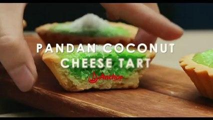 Pandan Coconut Cheese Tarts