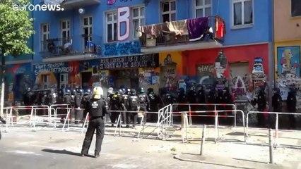 Берлин: сквоттеры против полиции
