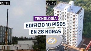 [CH] ¡Espectacular! Construyen un edificio de 10 pisos en un día