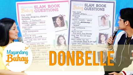 Donny and Belle answer Slam Book Questions   Magandang Buhay