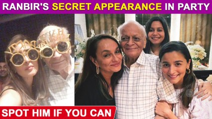 Can You Spot Ranbir Kapoor In THIS Picture From Alia Bhatt's Grandfather's Birthday Bash?