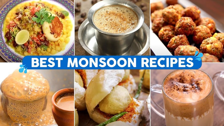 Best Recipes for Monsoon Cravings | Vada Pav | Tandoori Chai | Ragada Pattice | 7 Tasty Foods