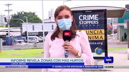Informe revela zonas con más hurtos  - Nex Noticias