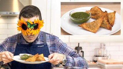 Recreating Padma Lakshmi's Curried Samosas from Taste