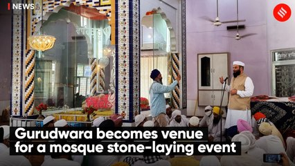 Gurudwara becomes venue  for a mosque stone-laying event