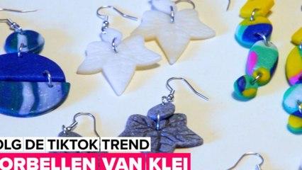 Volg de TikTok trend: oorbellen van klei