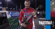 Guitar hero: Ryan Preece hoists hardware in series return to Nashville