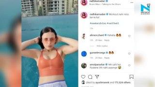 Radhika Madan's pool workout session sizzle on Instagram