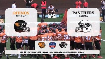 Rhinos Milano - Panthers Parma 19-31, gli highlights