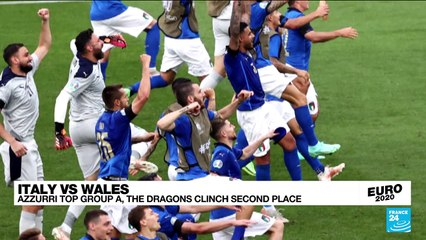 Italy beats Wales, both advance to round of 16 at Euro 2020